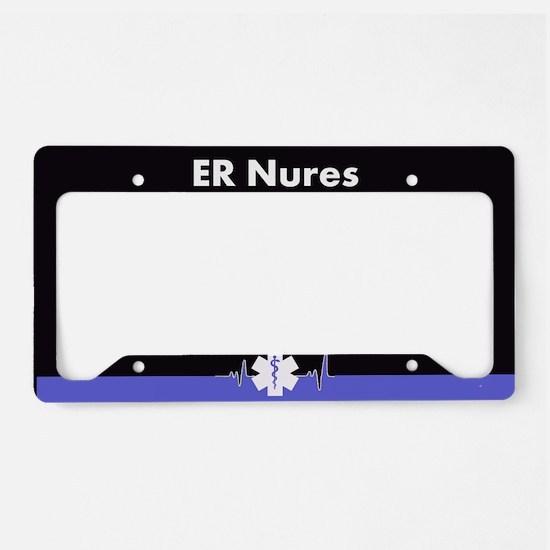 Er Nurse License Plate Holder