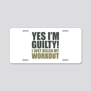 Yes I'm Guilty! Aluminum License Plate