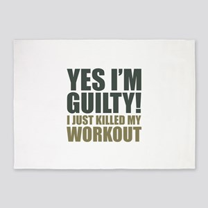 Yes I'm Guilty! 5'x7'Area Rug