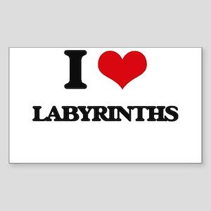 I Love Labyrinths Sticker