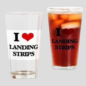 I Love Landing Strips Drinking Glass