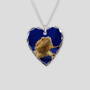 Bearded Dragon Necklace Heart Charm