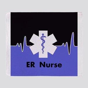 ER Nurse Throw Blanket