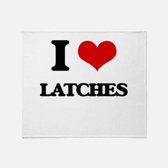 I Love Latches Throw Blanket