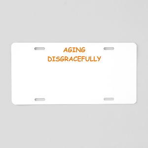 aging Aluminum License Plate