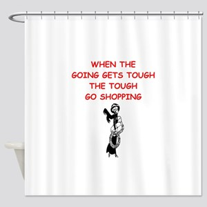 shopping Shower Curtain