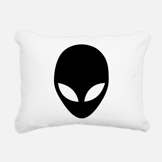They're here Alien Head Rectangular Canvas Pillow