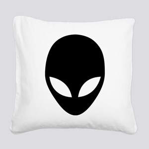 They're here Alien Head Square Canvas Pillow