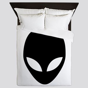 They're here Alien Head Queen Duvet