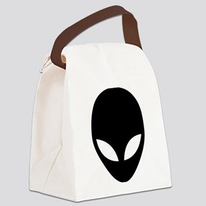 They're here Alien Head Canvas Lunch Bag