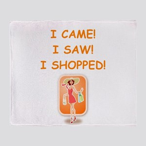 shopping Throw Blanket