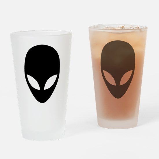 They're here Alien Head Drinking Glass