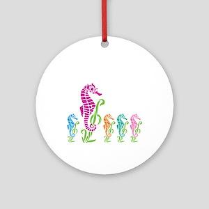 Seahorse Parade Ornament (Round)