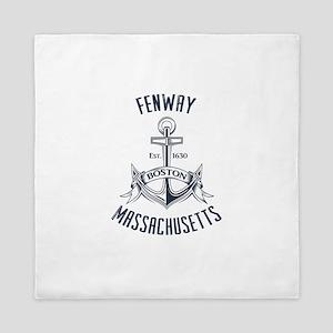 Fenway, Boston MA Queen Duvet