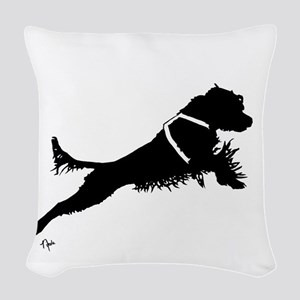 Working PWD Woven Throw Pillow