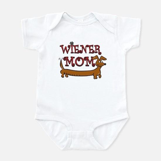 Cute Wiener Mom Cartoon Infant Bodysuit