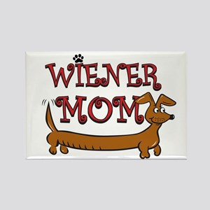 Cute Wiener Mom Cartoon Rectangle Magnet