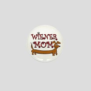 Cute Wiener Mom Cartoon Mini Button