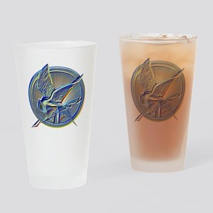 Silver Mockingjay Drinking Glass