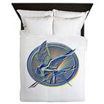 Silver Mockingjay Queen Duvet
