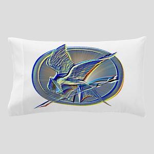 Silver Mockingjay Pillow Case