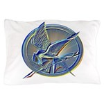 Silver Mockingjay Pillow Case