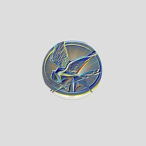 Silver Mockingjay Mini Button