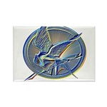 Silver Mockingjay Rectangle Magnet