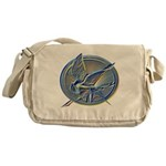 Silver Mockingjay Messenger Bag