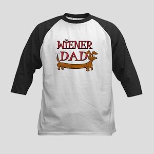 Wiener Dad - Cute Dachshund D Kids Baseball Jersey