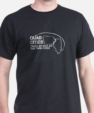 Quad Cities - State Outline T-Shirt