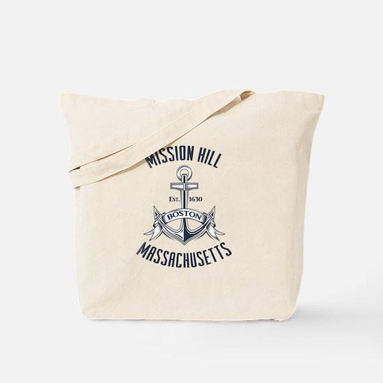 Mission Hill, Boston MA Tote Bag