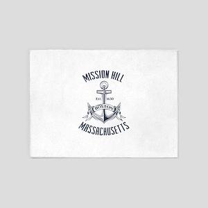 Mission Hill, Boston MA 5'x7'Area Rug