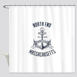 North End, Boston MA Shower Curtain