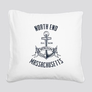 North End, Boston MA Square Canvas Pillow