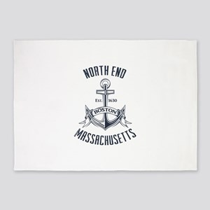 North End, Boston MA 5'x7'Area Rug