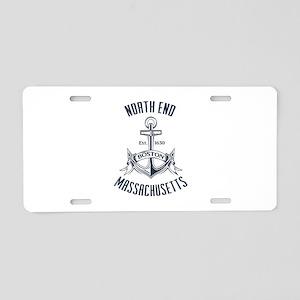 North End, Boston MA Aluminum License Plate