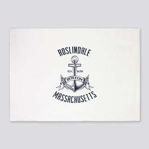 Roslindale, Boston MA 5'x7'Area Rug