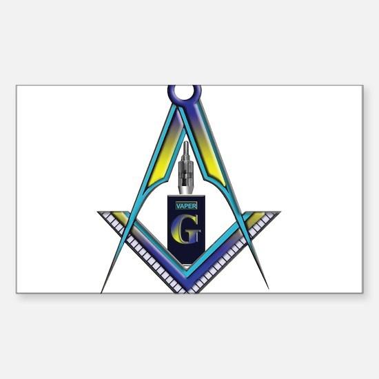 Masons who vape Sticker (Rectangle)