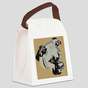 Cute Blue Boxer Dog  Canvas Lunch Bag