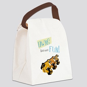 Fawn Boxer  Canvas Lunch Bag