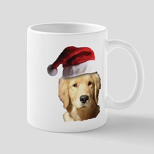 Christmas Golden Retriever Santa 11 oz Ceramic Mug