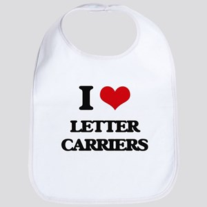I Love Letter Carriers Bib