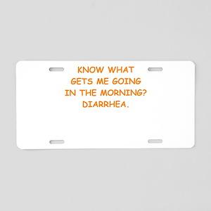 sick joke Aluminum License Plate