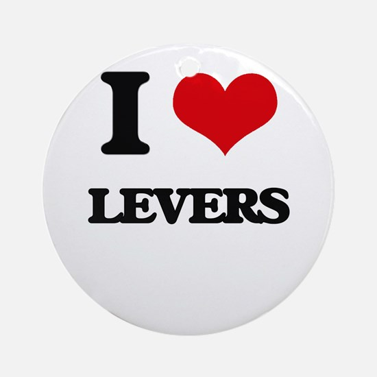 I Love Levers Ornament (Round)