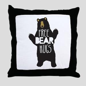FREE BEAR HUGS Throw Pillow