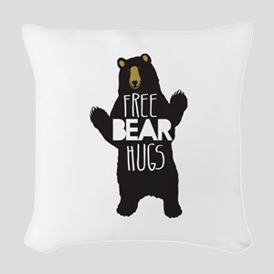 FREE BEAR HUGS Woven Throw Pillow