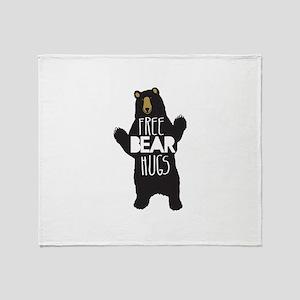 FREE BEAR HUGS Throw Blanket