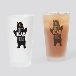 FREE BEAR HUGS Drinking Glass