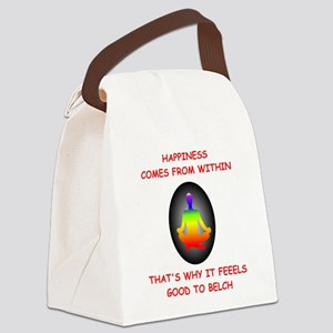 happiness Canvas Lunch Bag